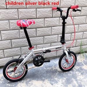 Image 5 - YNHON Folding Bike Aluminun Alloy 412 14/16 Inch Single speed Outside Three speed Kid Childrens Bicycle Mini Modification