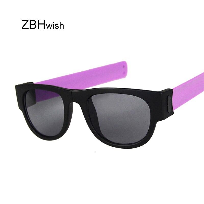 Folding Slap Wristband Sport Sunglasses Women Slappable Bracelet Sun Glasses For Male 2019 Wristband Fold Shades Eyewear