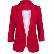 Женский Большой размер желтый блейзер Feminino формальная куртка Женский Белый Блейзер Женский синий женский костюм офисный женский