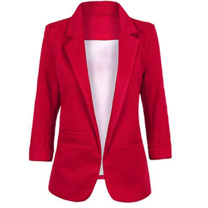 Ladies Plus Size Yellow Blazer Feminino Formal Jacket Women'S White Blazer Female Blue Women Suit Office Ladies 2019