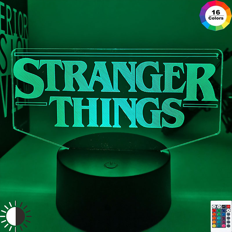 American Web Television Series Stranger Things Led Night Light 7 Colors Changing Touch Sensor Bedroom Nightlight Table Lamp Gift