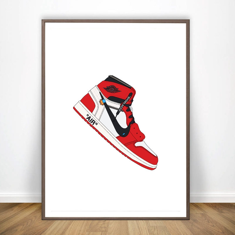 Fashion Sneaker Shoes Canvas Art Poster Prints Classic History Popular Shoes Art Picture Painting Home Wall Art Decor
