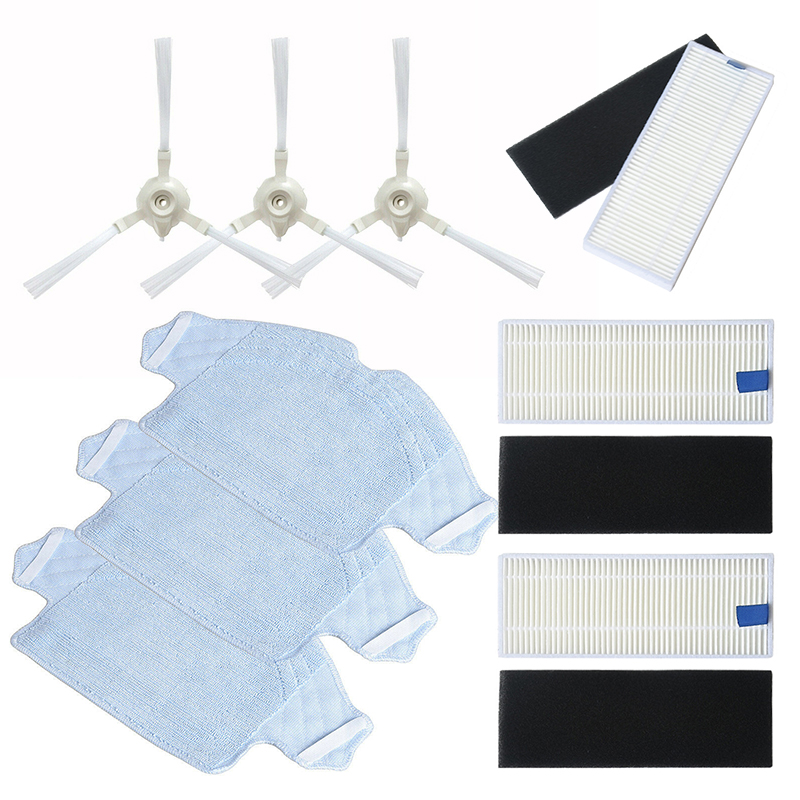 Filter Sponge Side Brush Cloth Kit For 360 S6 Vacuum Cleaner Replacement Parts|Cleaning Brushes| |  - title=
