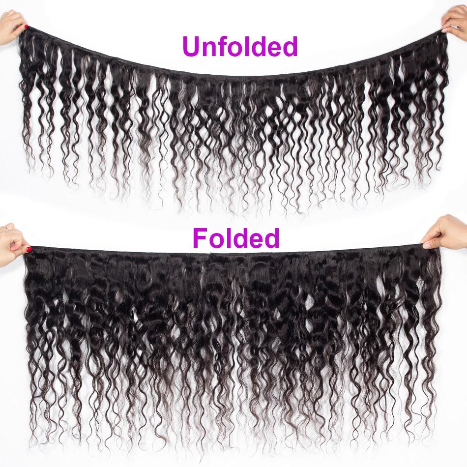 Celie Brazilian Hair Weave 3 Bundles With Closure Water Wave With Closure Remy Human Hair Bundles With HD Transparent Closure