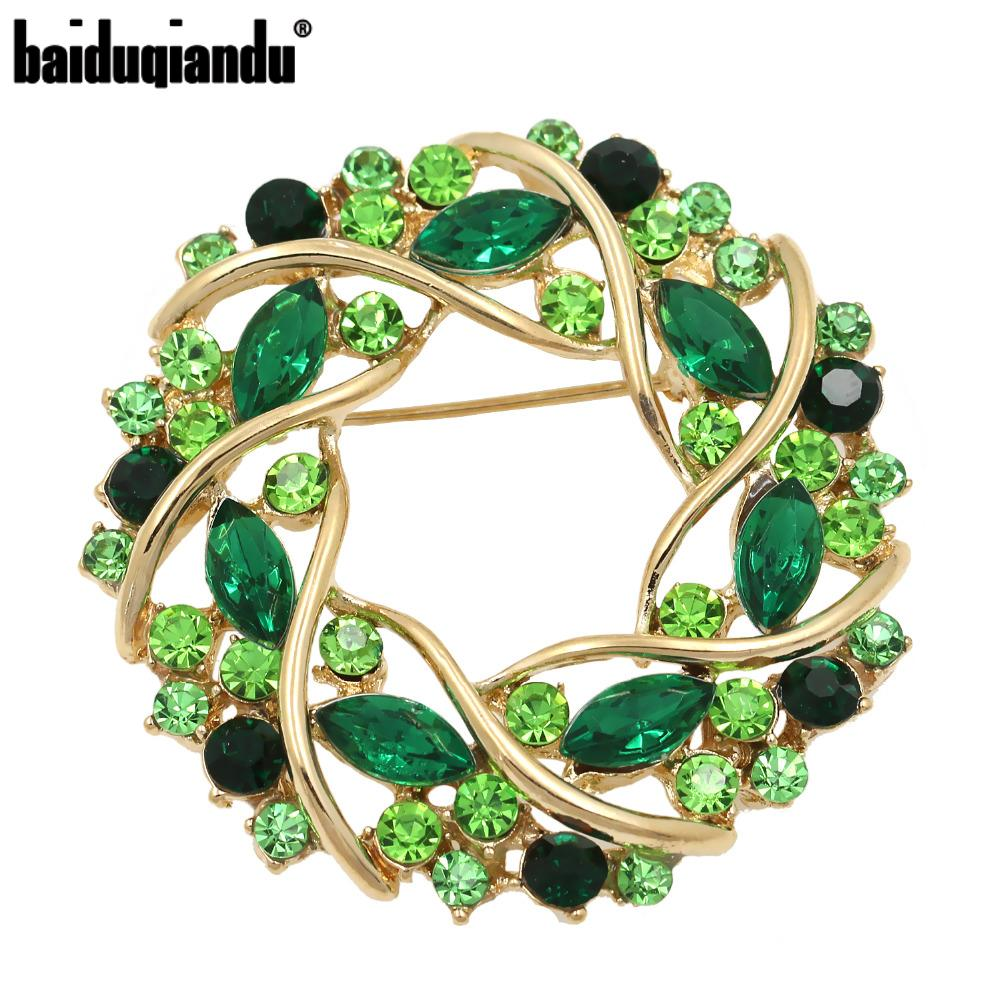 Factory Direct Sale Women Crystal Rhinestone Garland Brooch In 5 Colors Free DHL/EMS Delivery Order $100+|rhinestone crystal brooch|crystal rhinestone broochrhinestone brooch - AliExpress