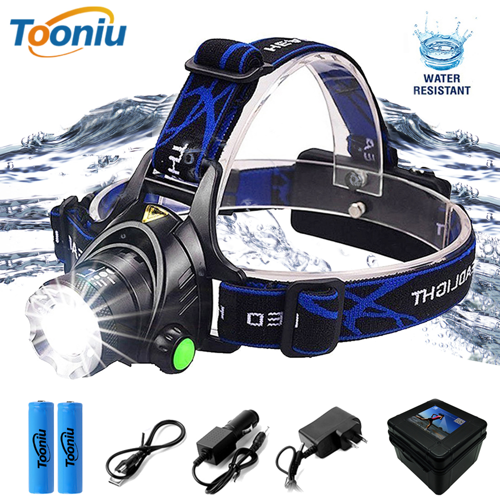 Super bright LED Headlamp Fishing lamp Headlight Zoomable 3 lighting modes Used for adventure camping hunting etc use 18650