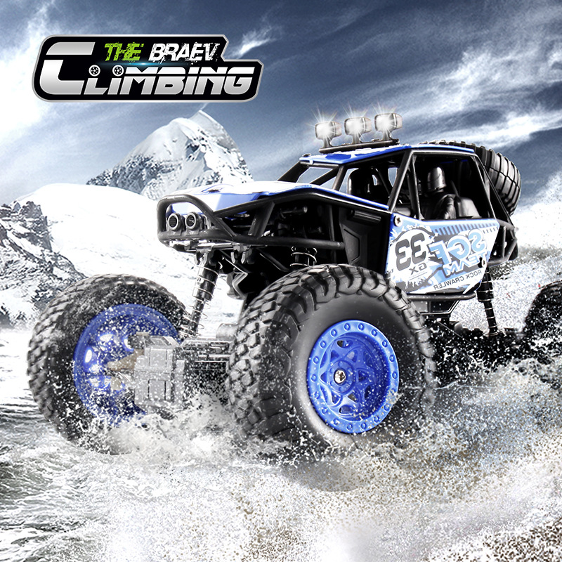 RC Car 4WD 2.4G 4×4 Model Off-road Vehicle Crash-resistant Off-road Vehicle Climbing Truck Toy Boy Child Gift Jeep Large