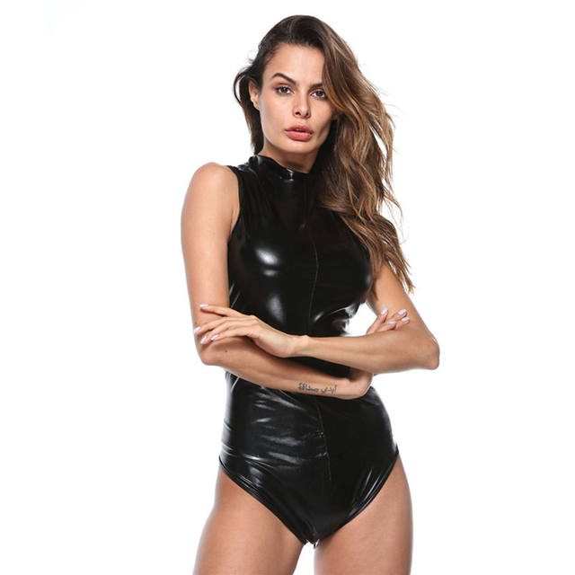 Sexy Bodysuit PU Leather