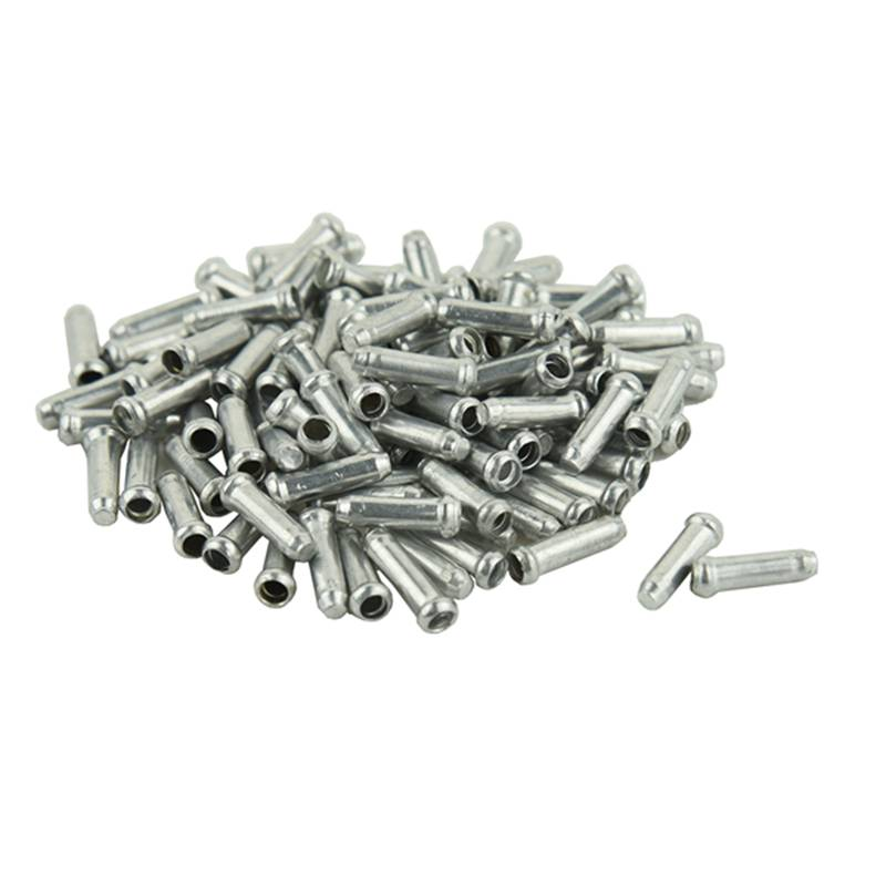 UPPERX 100x Bicycle Bike Shifter Brake Cable Tips Caps End Crimp Silver