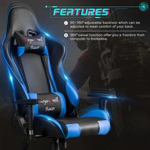 купить Ehomebuy Gaming Chair Office Chair High Back Racing Chair Reclining Ergonomic Adjustable Swivel Task Chair with Headrest по цене 10637.23 рублей