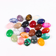 10pcs/lot Natural Stone Oval Cabochon Opal Turquoise Lapis Lazuli for Diycabochon Ring Bracelet Earring Jewelry Making Finding