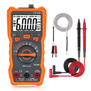 T21D Digital Multimeter RM113D Multimetro Analogico 6000 Counts Transistor capacitor Tester esr Capacitance Meter Voltemetre(China)