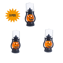 3 pcs Halloween Small Pumpkin Lantern Wind Light lampion Electronic Oil Lamp Decoration for Decorative