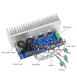 Image 5 - AIYIMA TDA7294 80W*2+100W HIFI Fever 2.1 Channel Subwoofer Power Audio Amplifier Board With Radiator DIY For Home sound Theater