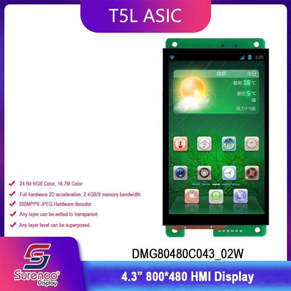Dwin T5L HMI Intelligent Display, DMG80480C043_02W 4.3