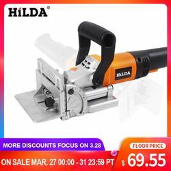 HILDA, 760 W, herramienta eléctrica para unir galletas, máquina de espigado para carpintería, máquina de galletas, máquina de puzle, Motor de cobre