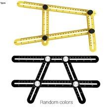 Измерительная линейка алюминиевая складная линейка для позиционирования с металлическими винтами для профессионального инструмента для пола из деревянной плитки