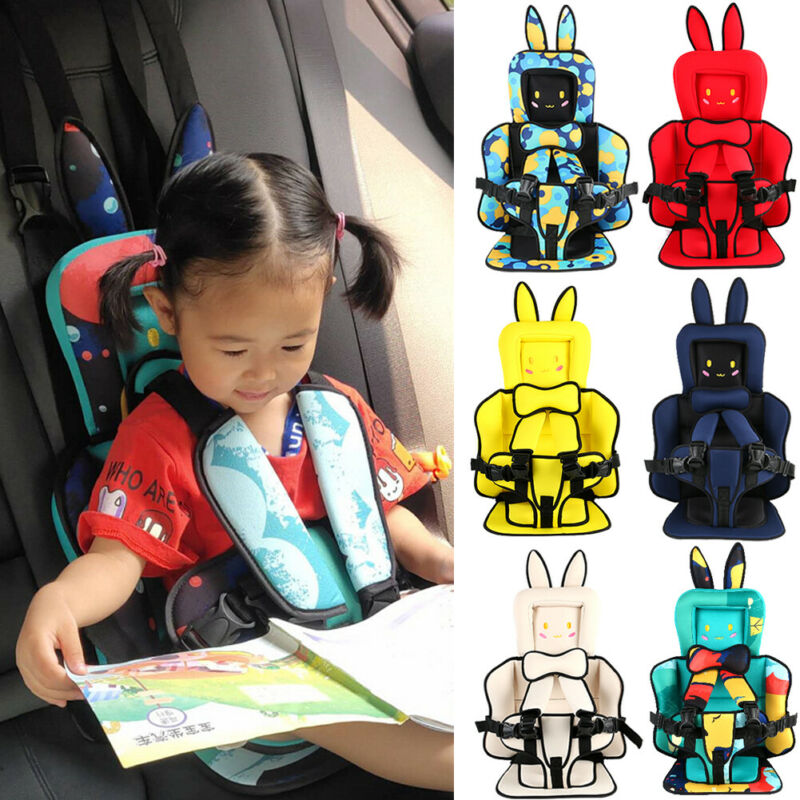 Baby Child Car Safety Seat Protable Kids Toddler Infant Carrier Chair Protection Belt Strap Thicken Mat Car Travel Safety Seats