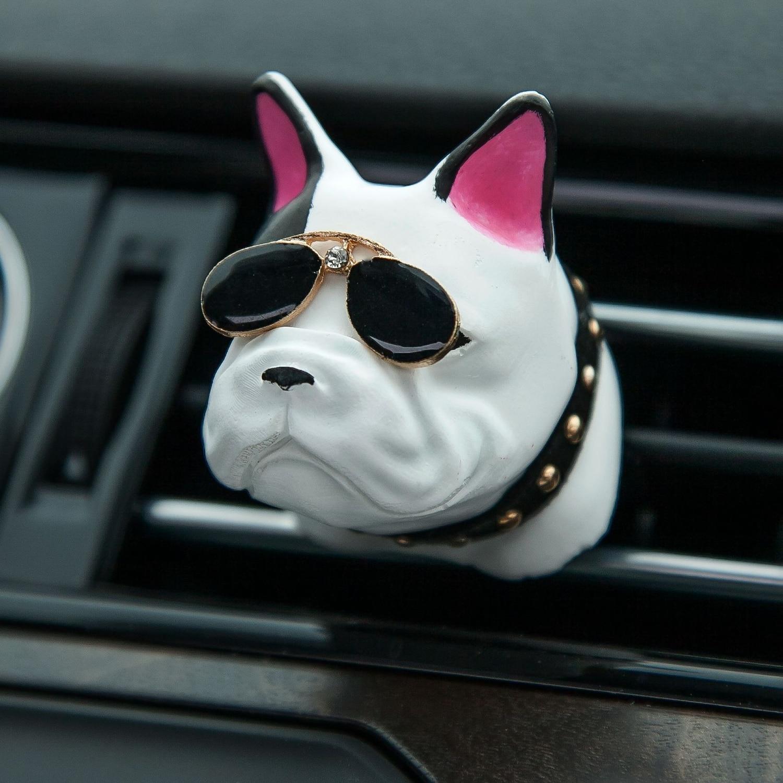 Bulldog Shape Car Air Freshener Perfume Clip Fragrance Diffuser Auto Vents Scent Parfum Bulldog Car Decor Car Air Conditioning