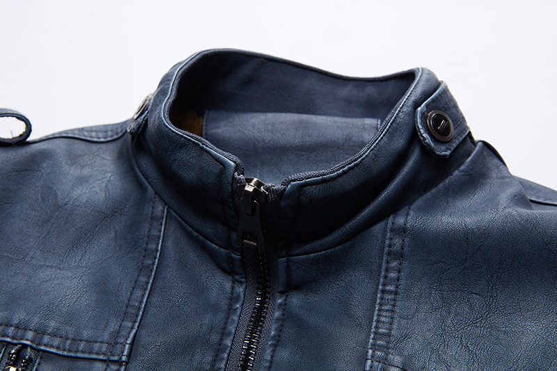 Image 4 - Leather Jackets Men 2019 Winter PU Jacket Coats Thick Fleece Warm  leather coat Brand Mens Clothes Street Vintage Jacket CostumeJackets