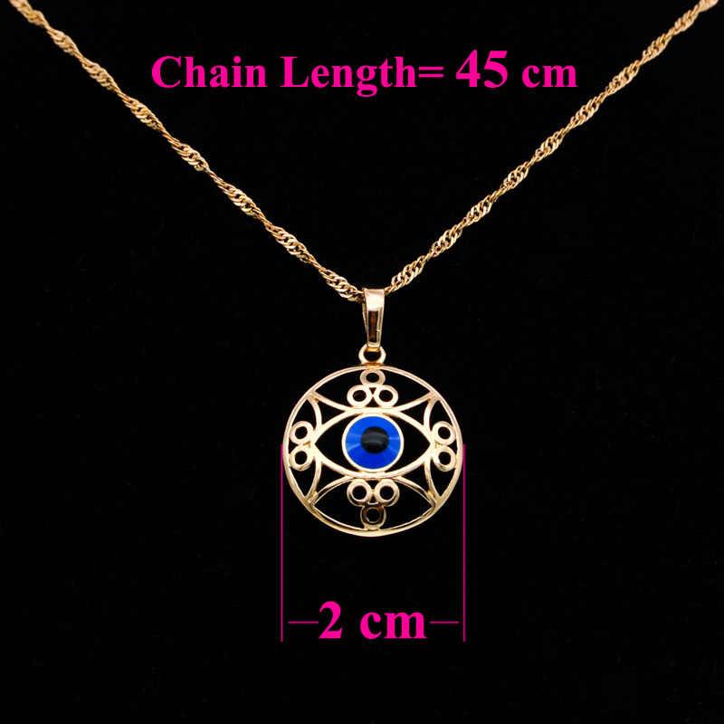 Rétro mauvais esprits oeil pendentif collier femmes or amulette Talisman indien Wicca bijoux Pingente de Olho Wisiorek N0309