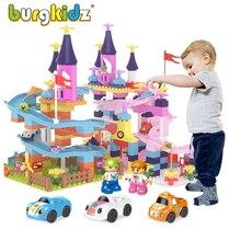 Canicas run-bloques grandes compatibles con bloques de construcción clásicos, Castillo deslizante DIY, figuras de bloques, pista de coches, juguetes para niños, regalo