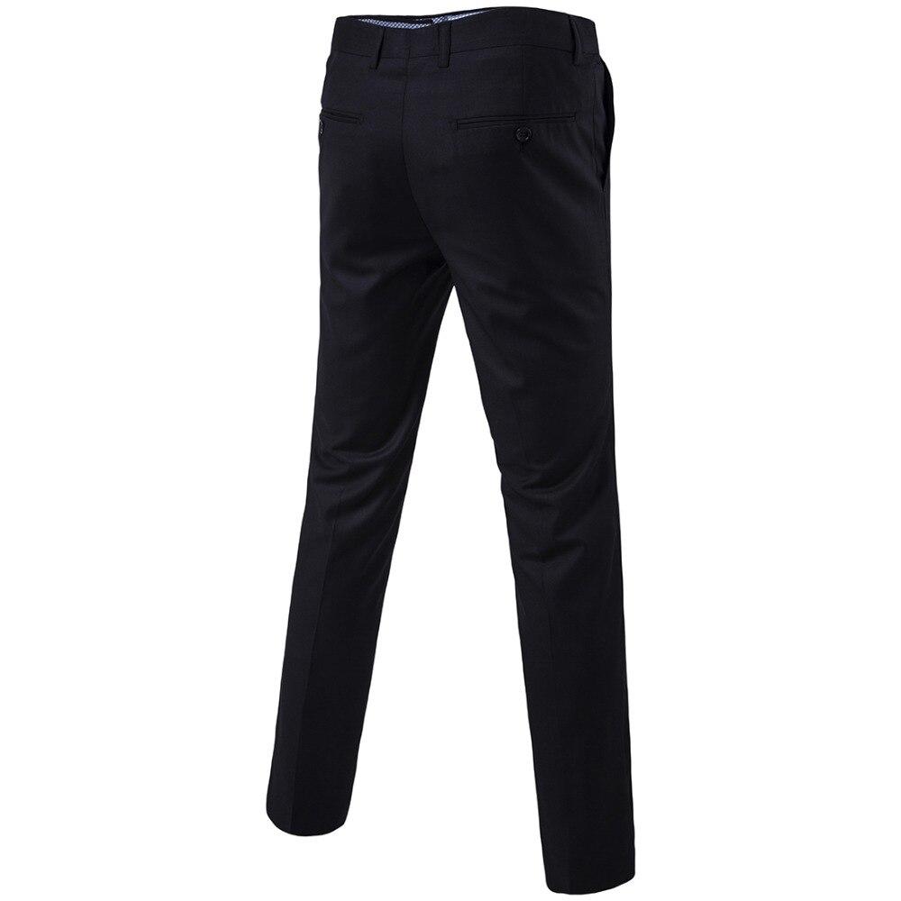 Suit Pants Men 2019 Fashion Elegant Mens Dress Pants Solid Color Straight Long Trousers Slim Fit Formal Men's Clothing