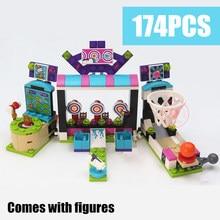 Friends girl Machine Shooting Amusement Park model Building Block 100% Toy Kit Compatible with lego friends kid gift set цена в Москве и Питере