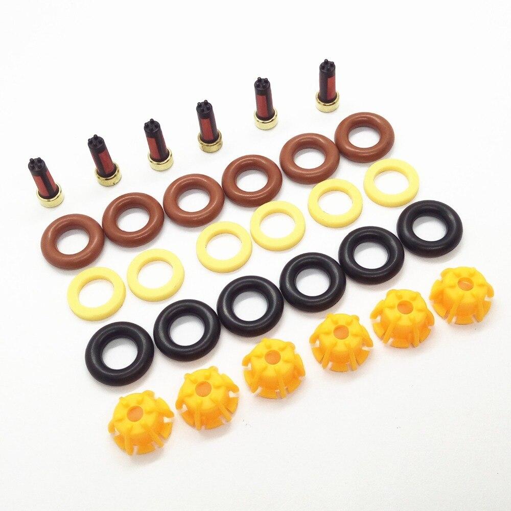 6 комплектов Топливная форсунка Ремонтный комплект 0280150440 13641703819 для BMW E60 E39 520i 523i 525i 528i E36 328i E36 Замена автомобиля AY-RK004