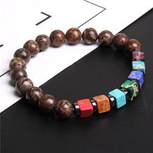 цена на 7 Chakra Bracelet For Men Women Tree of life Charm Beaded Healing Energy Yoga Bracelets Reiki Buddha Prayer Bracelet homme