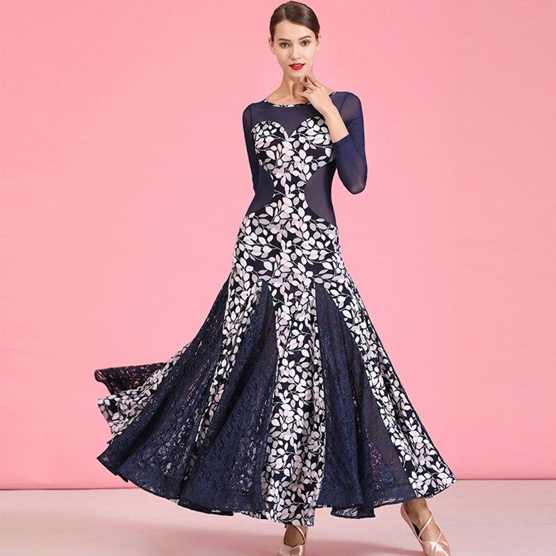 Ballroom Waltz Dresses Adult Crystal Hemp Print Modern Dance Dress For Women Performance Clothing Bullfight Practice Wear DN4439