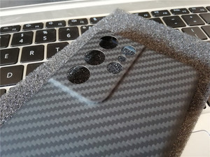 Image 5 - Dunne En Lichtgewicht Aramid Carbon Fiber Case Forsamsung Galaxy S21 Ultra S21 + Plus S20 Bumper Back Cover Shell