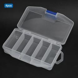 4 sztuk Sea Fishing pudełko na przynęty przezroczyste pudełko ze sprzętem wędkarskim karpia przynęta na ryby 5 przegródek futerał do przechowywania na zimę FishingAccessory
