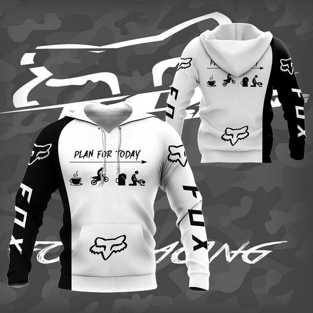 Hoodie sweatshirtMen's Hoodie Brand New 3D Digital Print Hoodie Casual Jacket Spring Autumn Motorcycle 3
