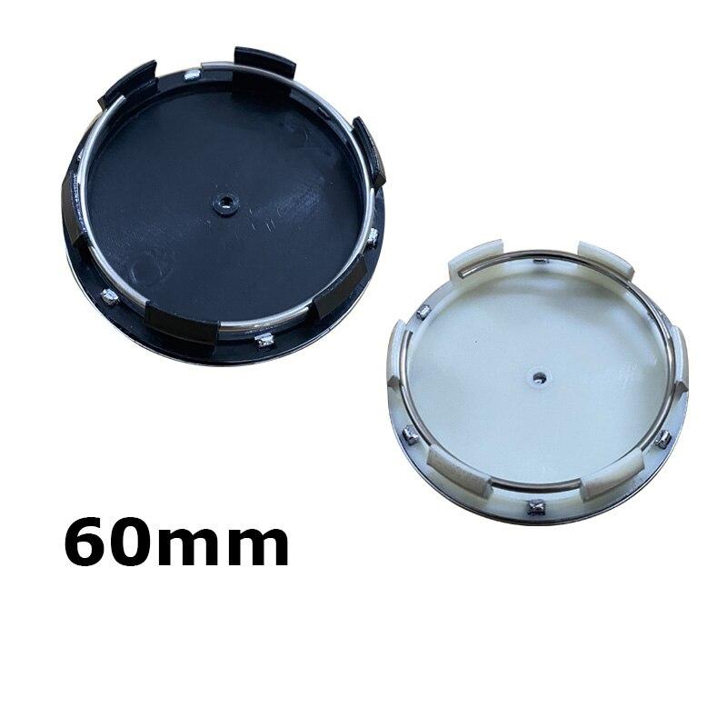 20 шт./лот 60 мм, черные, серебряные колпачки для центра колеса, колпачки для обода колеса, эмблема для Mercedes Benz серии, аксессуары