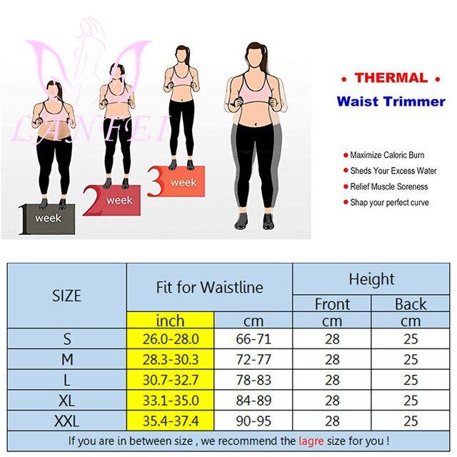 LANFEI Waist Tainer Tummy Shaper Belt Women Hot Neoprene Sweat Body Shaper Strap Girdle Slimming Waist Trimmer Corset Shapewear 5