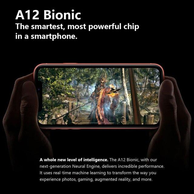 Original Unlocked Apple iPhone XR Mobile Phone 6.1inch LCD Display Hexa Core IOS Fingerprint Face ID NFC Apple Smartphone 6