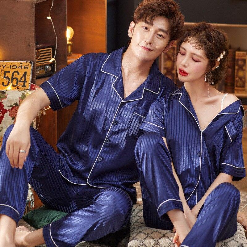 Мужские пижамы Мужские шелковые пижамы Мерил Сатин пижамы для мужской костюм домашняя одежда пижамы Pigama набор топы сна