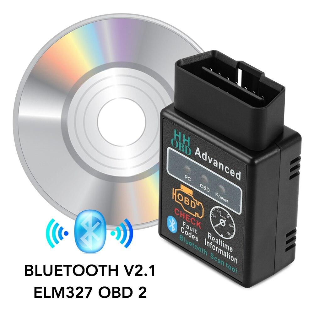 Obd2 hh obd elm327 v2.1 bluetooth ferramenta de scanner diagnóstico do carro para ford focus fiesta ecosport escolta ranger fusão mondeo