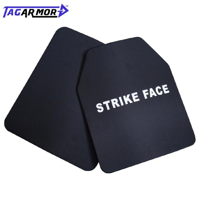 2pcs/lot Military Steel Ballistic Body Armour Plate NIJ IIIA Level For Mostly Pistol & Handgun