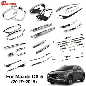 Image 1 - Dla Mazda CX 5 CX5 KF 2017 2018 2019 Chrome przednie tylne światło przeciwmgielne Taillight boczne lustro listwa przykrywająca dekoracji samochodu stylizacji