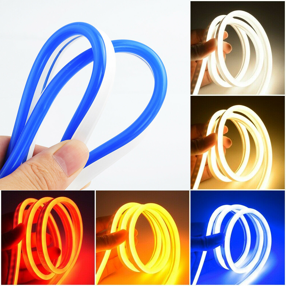 Neon Light 12V LED Strip Silicone 120LEDs/M 6mm Narrow Flexible Curved Tube Waterproof For DIY Christmas Holiday Decor Light