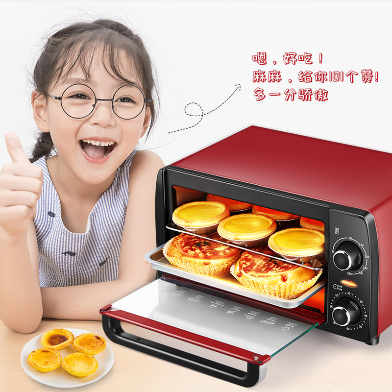 Microwave Oven KAO-1208 Electric Oven Home Baking Machine Mini Small Automatic Multi-function Cake Bread Authentic