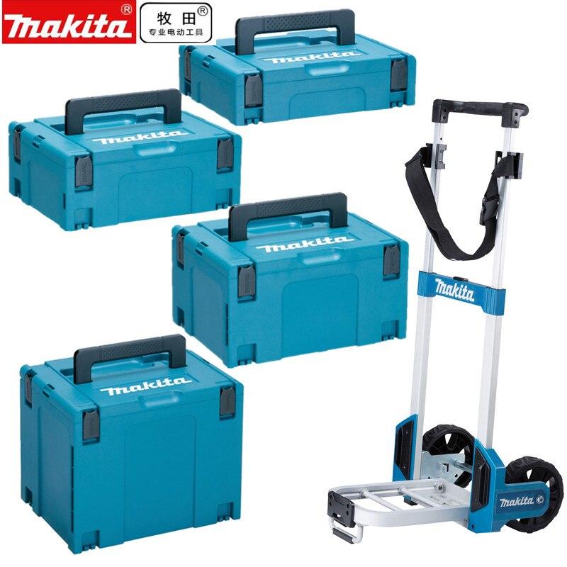 Инструменты для инструментов Makita, чемодан, чехол MakPac, коннектор 821549-5 821550-0 821551-8 821552-6, ящик для хранения, бандажная тележка title=