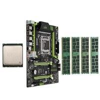 HOT X79 LGA2011 Motherboard Combo Set with E5 2689 CPU 4X4GB 16GB DDR3 RAM 4 Ch 1333Mhz REG ECC PCI E NVME M.2 SSD Slot