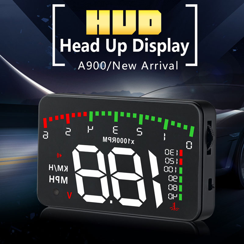 XYCING A900 Car Head Up Display OBD2 Car HUD Speedometer Windshield Projector Digital Meter Car Driving Data Diagnostic Display