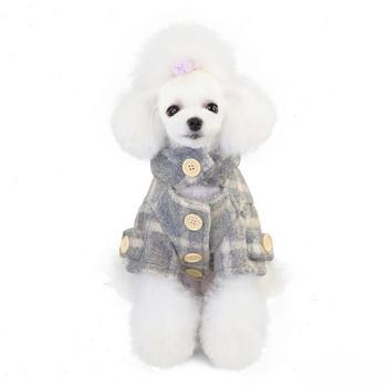 Odzież dla zwierząt odzież dla psów odzież jesienno-zimowa nowa tartan trencz odzież dla psów dla małych psów odzież zimowa dla psów tanie i dobre opinie CN (pochodzenie) Poliester Jesień zima Plaid