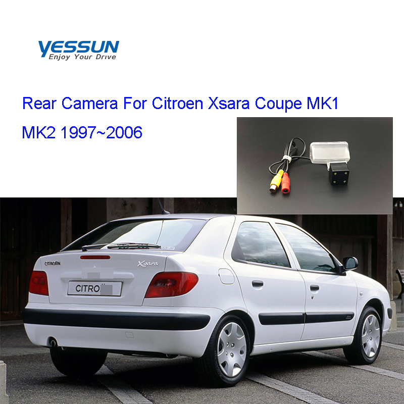 Yessun License Plate Rear View Camera 4 LED Night Vision 170 Degree HD For Citroen Xsara Coupe MK1 MK2 1997~2006