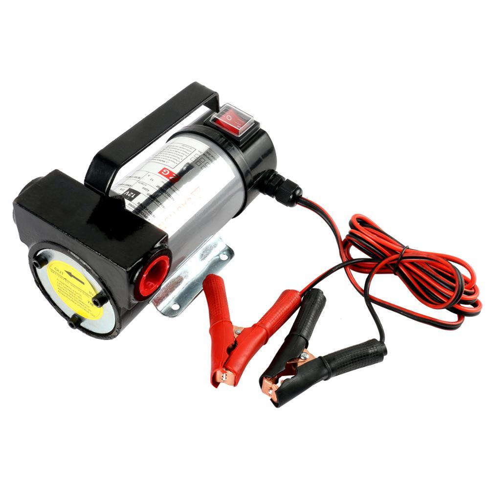 24V 12V 280W Reversible Electric Diesel Pump  Fuel Oil Transfer Self Priming Oil Pump