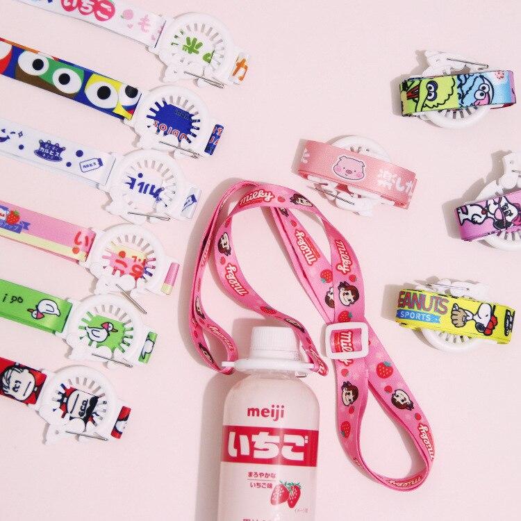 Japanese Korean Sesame Street Mineral Water Beverage Bottle Suspender Strap Portable Cup Lanyard Back Hose Buckle 1
